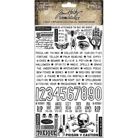 Advantus Tim Holtz Idea-ology - Halloween Remnant Rubs