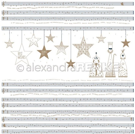 "Alexandra Renke - 12""x12"" Cardstock - Three Kings Notes"
