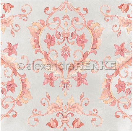 "Alexandra Renke - 12""x12"" Cardstock - Tile Red Heart Tendril"