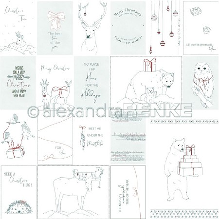 "Alexandra Renke - 12""x12"" Cardstock - Card Sheet Nordic Animals"