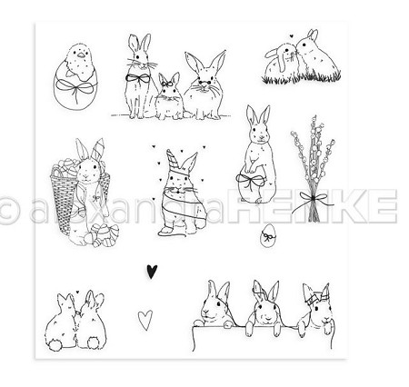 Alexandra Renke - Clear Stamp - Easter Bunny and Friends