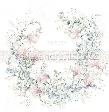 "Alexandra Renke - 12""x12"" Cardstock - Wreath with Magnolia"