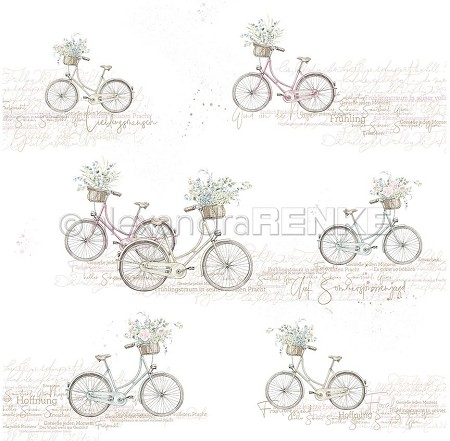 "Alexandra Renke - 12""x12"" Cardstock - Flower Bicycles"