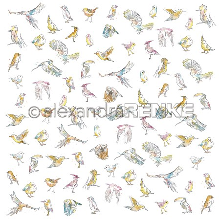 "Alexandra Renke - Paradise Many Different Birds 12""x12"" Cardstock"