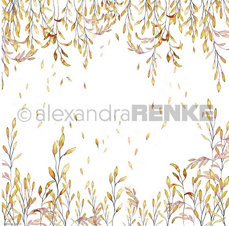 "Alexandra Renke - 12""x12"" Cardstock - Orange Tendrils"