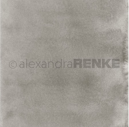 "Alexandra Renke - 12""x12"" Cardstock - Mimi's Watercolors Mud Dark"