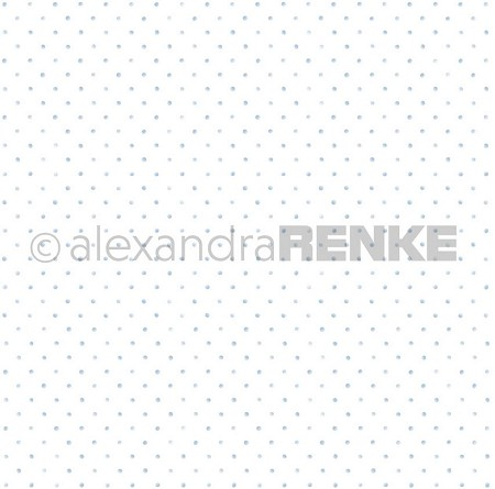 "Alexandra Renke - 12""x12"" Cardstock - Little Dots Light blue"