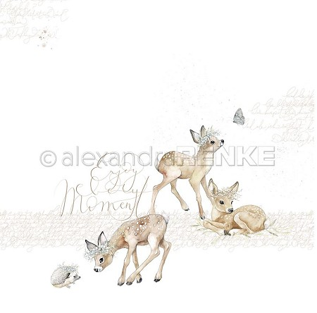 "Alexandra Renke - 12""x12"" Cardstock - Fawns Enjoy The Moment"