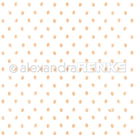"Alexandra Renke - 12""x12"" Cardstock - Egg Dots Orange"