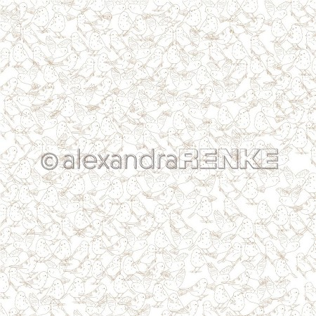 "Alexandra Renke - 12""x12"" Cardstock - Lene's Spring Birds Background"