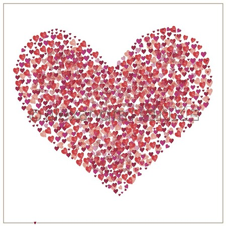"Alexandra Renke - 12""x12"" Cardstock - Red Heart of Hearts"