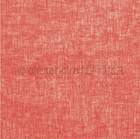 "Alexandra Renke - 12""x12"" Cardstock - Linen Strawberry Red"