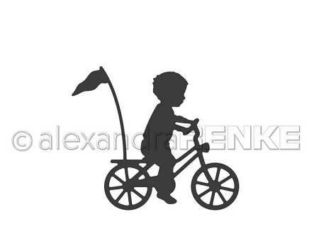 Alexandra Renke - Cutting Die - Child on Bicycle