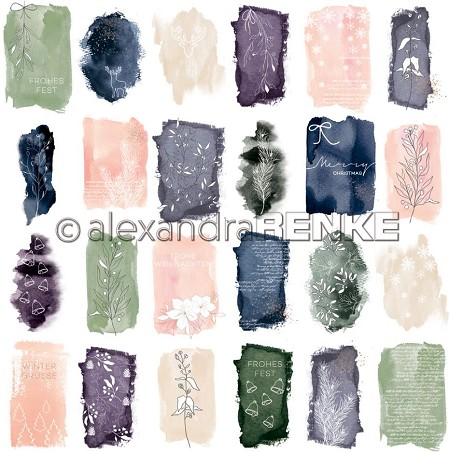 "Alexandra Renke - Card Sheet Abstract Watercolor - 12""x12"" Cardstock"