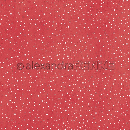"Alexandra Renke - 12""x12"" Cardstock - Snow flurry red"