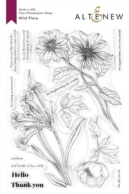 Altenew - Clear Stamps - Wild Flora