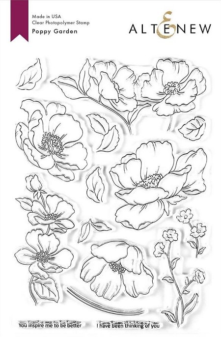 Altenew - Clear Stamps - Poppy Garden