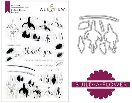 Altenew - Clear Stamps & Die bundle - Fuchsia Build-a-Flower