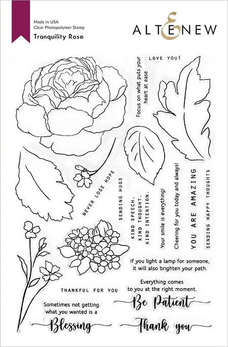 Altenew - Clear Stamps - Tranquility Rose