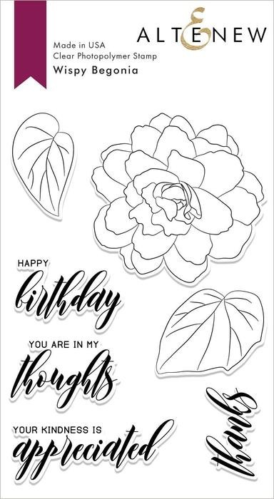 Altenew - Clear Stamps - Wispy Begonia
