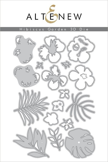 Altenew Cutting Dies Hibiscus Garden 3d Die Set