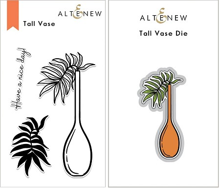 Altenew - Clear Stamps & Die bundle - Tall Vase