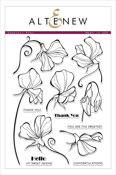 Altenew - Clear Stamps - Sweetest Peas