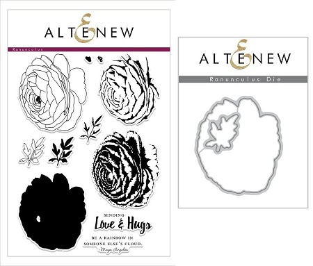 Altenew - Clear Stamps & Die bundle - Ranunculus Build-a-Flower