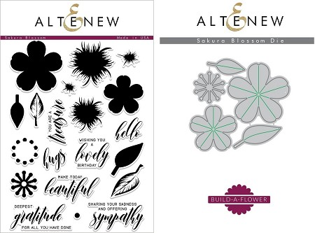 Altenew - Clear Stamps & Die bundle - Sakura Blossom Build-a-Flower