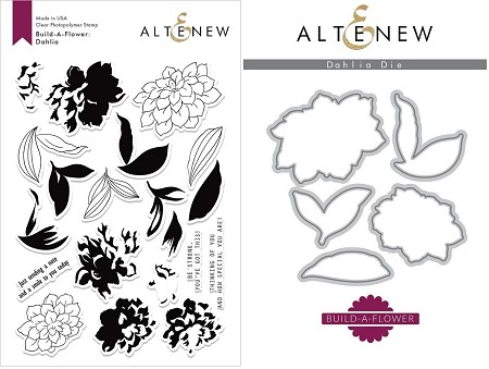 Altenew - Clear Stamps & Die bundle - Dahlia Build-a-Flower