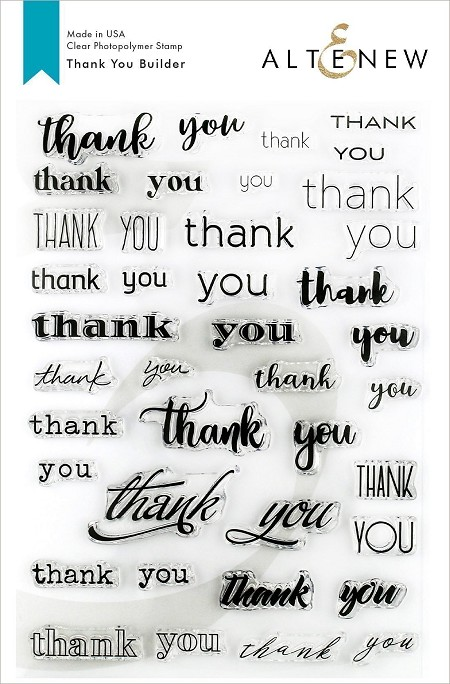 Altenew - Clear Stamps - Thank You Builder