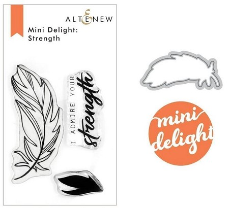 Altenew - Clear Stamps & Die set - Mini Delight: Strength