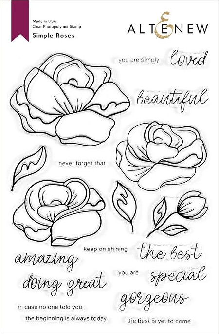 Altenew - Clear Stamps - Simple Roses