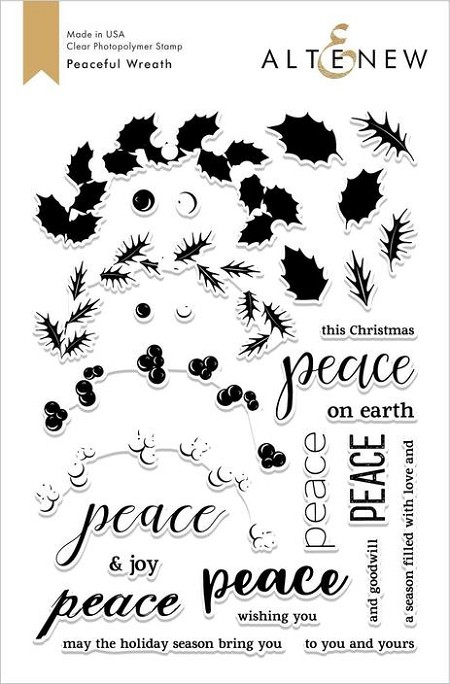 Altenew - Clear Stamps - Peaceful Wreath