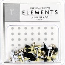 American Crafts Mini Brads - Elegant :)