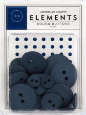 American Crafts Buttons - Denim