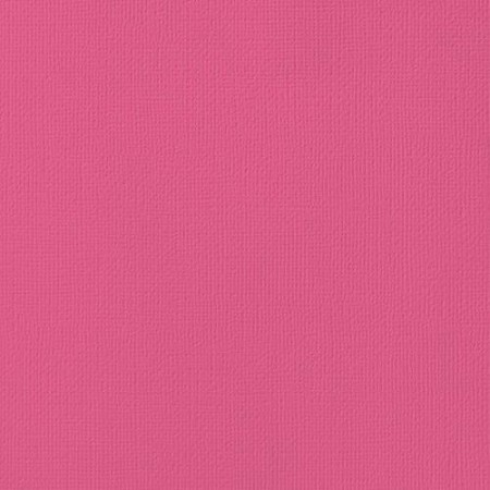 "American Crafts - 12"" x 12"" Textured Cardstock - Raspberry"