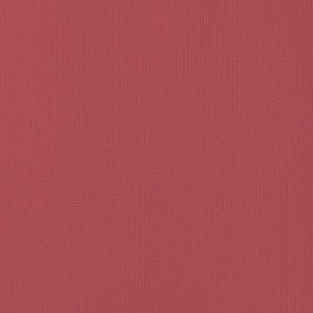"American Crafts - 12"" x 12"" Textured Cardstock - Cranberry"