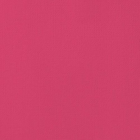 "American Crafts - 12"" x 12"" Textured Cardstock - Rouge"