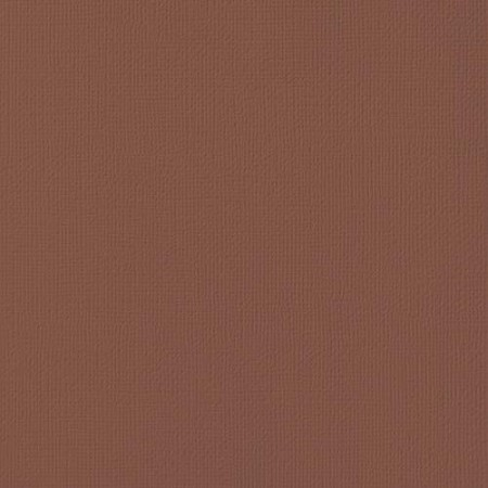 "American Crafts - 12"" x 12"" Textured Cardstock - Chocolate"