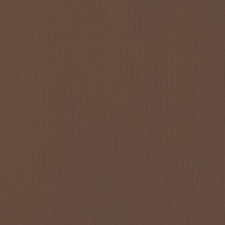 "American Crafts - 12"" x 12"" Textured Cardstock - Chestnut"