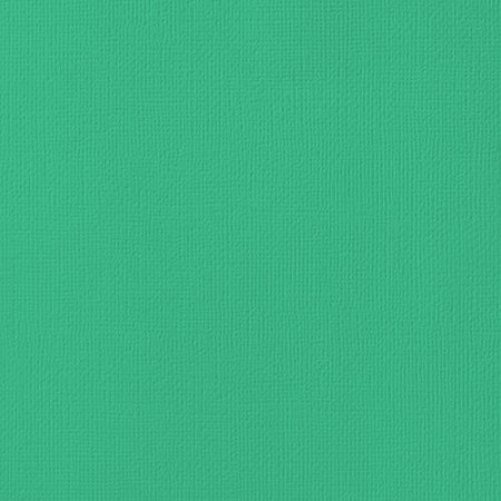 "American Crafts - 12"" x 12"" Textured Cardstock - Shamrock"