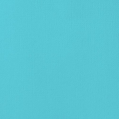 "American Crafts - 12"" x 12"" Textured Cardstock - Pool"