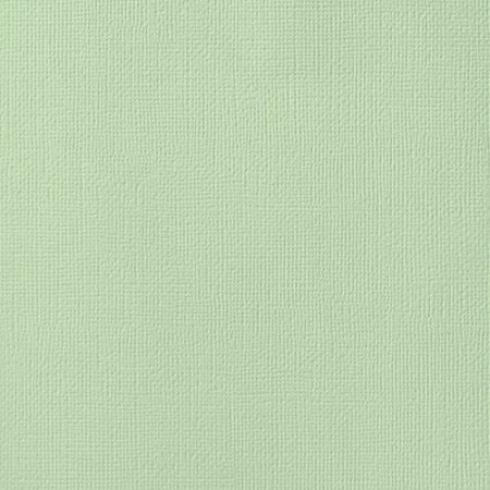 "American Crafts - 12"" x 12"" Textured Cardstock - Peapod"