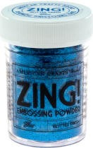 American Crafts Embossing Powder - Zing Glitter Blue