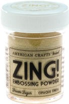 American Crafts Embossing Powder - Zing Opaque Brown Sugar :)