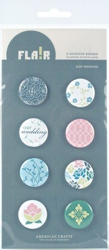 American Crafts - Flair Adhesive Badges - Our Wedding
