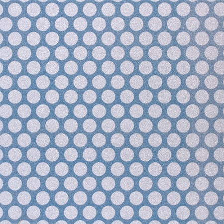 American Crafts - Pow! Collection - 12x12 Glitter Paper - Medium Dots - Marine