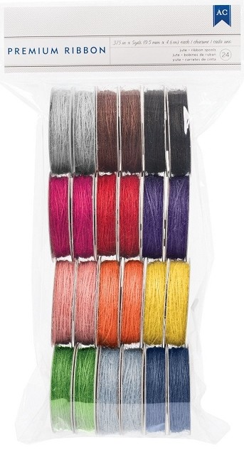 American Craft - 24 Pack Premium Ribbon Spools - Jute :)