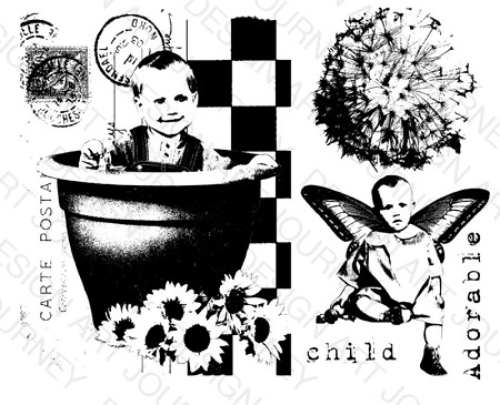Art Journey - Unmounted Rubber Stamps - Kids